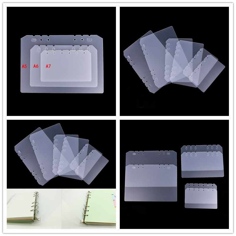 Board Page A5 A6 A7 PP Frosted Planner's Inner Pages Spacer Plate Diario Binder Planner Concise Filler Paper PP Separator