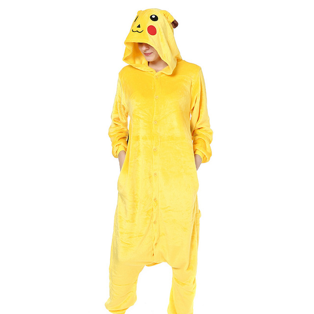 Pokemon Pikachu Kigurumi Onesies Cosplay Costumes Men and women Hooded animal cartoon pajamas blue shark home lovers Jumpsuits