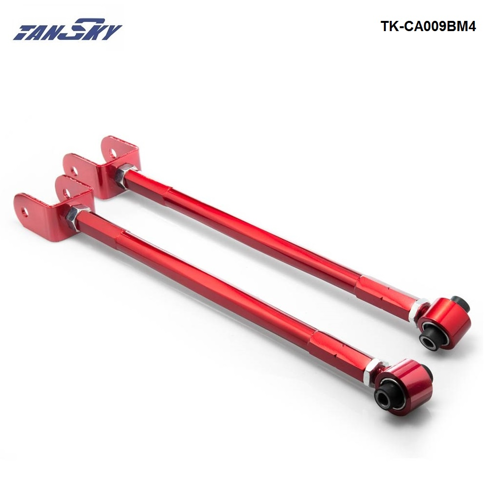 For BMW 3 Series BMW E36 E46 M3 Z3 Z4 Red Adjustable Suspension Camber Rear Lower