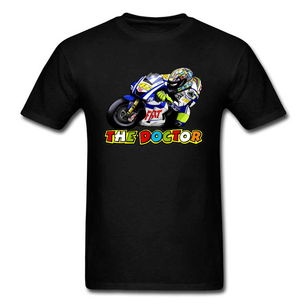 <font><b>Motorcycle</b></font> Rider <font><b>Rossi</b></font> vr46 T-shirt <font><b>Men</b></font> Tees Black Tops <font><b>100</b></font>% <font><b>Cotton</b></font> Clothing Cool Cartoon T Shirts Mans Biker Tshirt