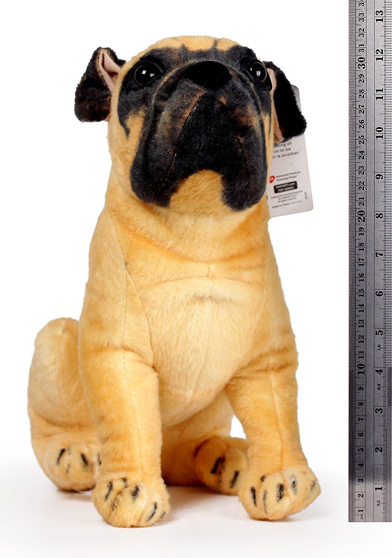 Plush Stuffed Pug Dog Realistic Animal Toy Rottweilers Like Small