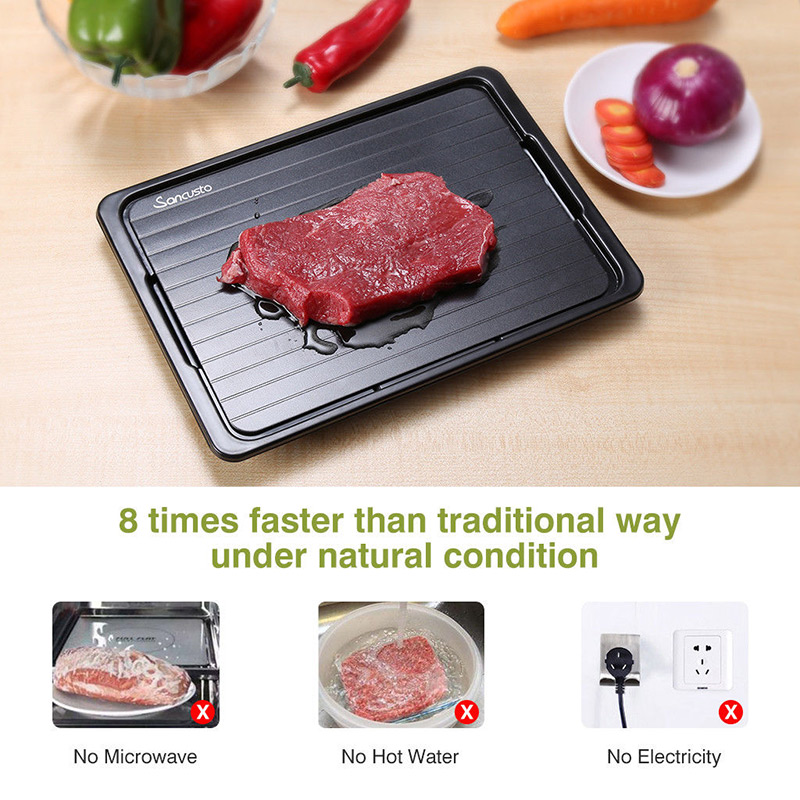 Fast Defrosting Tray with Cleaner Frozen Meat Defrost Food Thawing Plate Board Kitchen Tool For Drop Ship image