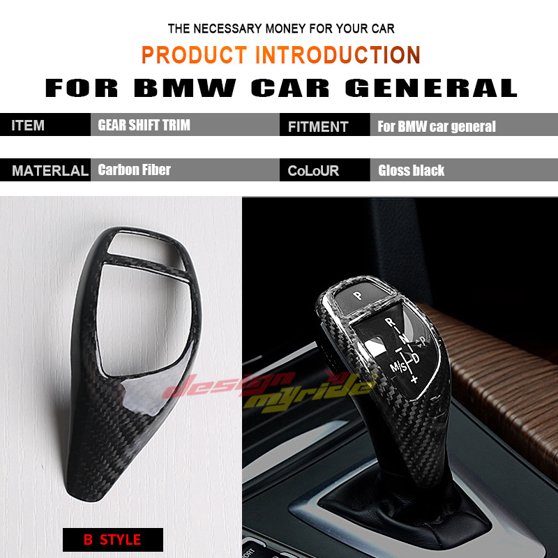 For BMW X3 X4 F25 F26 High quality Left Right hand drive Carbon car genneral Gear Shift Knob Cover Automobile decoration B Type in Gear Shift Knob from Automobiles Motorcycles