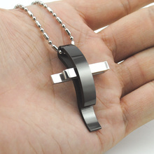 Christian Jewelry Cross Stainless Steel Pendant Necklace