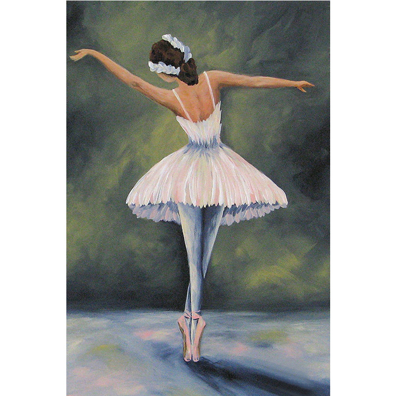 5D DIY Full Drill Diamond Painting Novelty Ballet Dancer Cross Stitch Kits