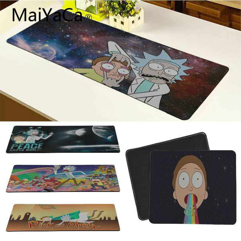 MaiYaCa Non Slip PC Rick And Morty mouse pad gamer play mats Radiation Decorate Your Desk Non-Skid Rubber Pad