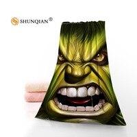 Hot Custom Hulk komiks ręcznik z nadrukiem bawełna twarz/ręczniki kąpielowe tkanina z mikrofibry dla dzieci mężczyzna kobiet ręczniki pod prysznic A7.24-1