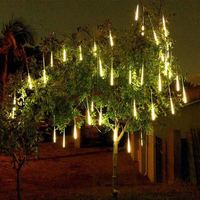 LED String Light Meteor Shower Waterproof Outdoor Light Tree House Fence Decor Connectable String Lights