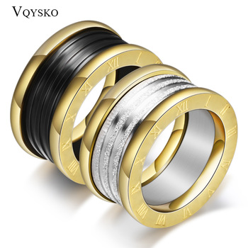 Antique Retro Stainless steel Rings For Women Men Jewelry Anillos Engagement Wedding Bague Homme Party Accessories Vintage 1
