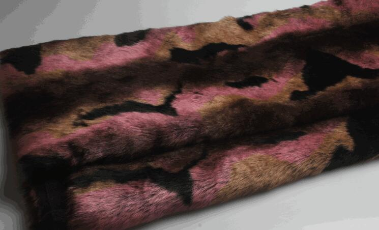 5 Estilo Rex conejo largo pelo animal algodón felpa lana tela para abrigo textil parches hechos a mano Jacquard grueso tejido de lentejuelas a346 - 4