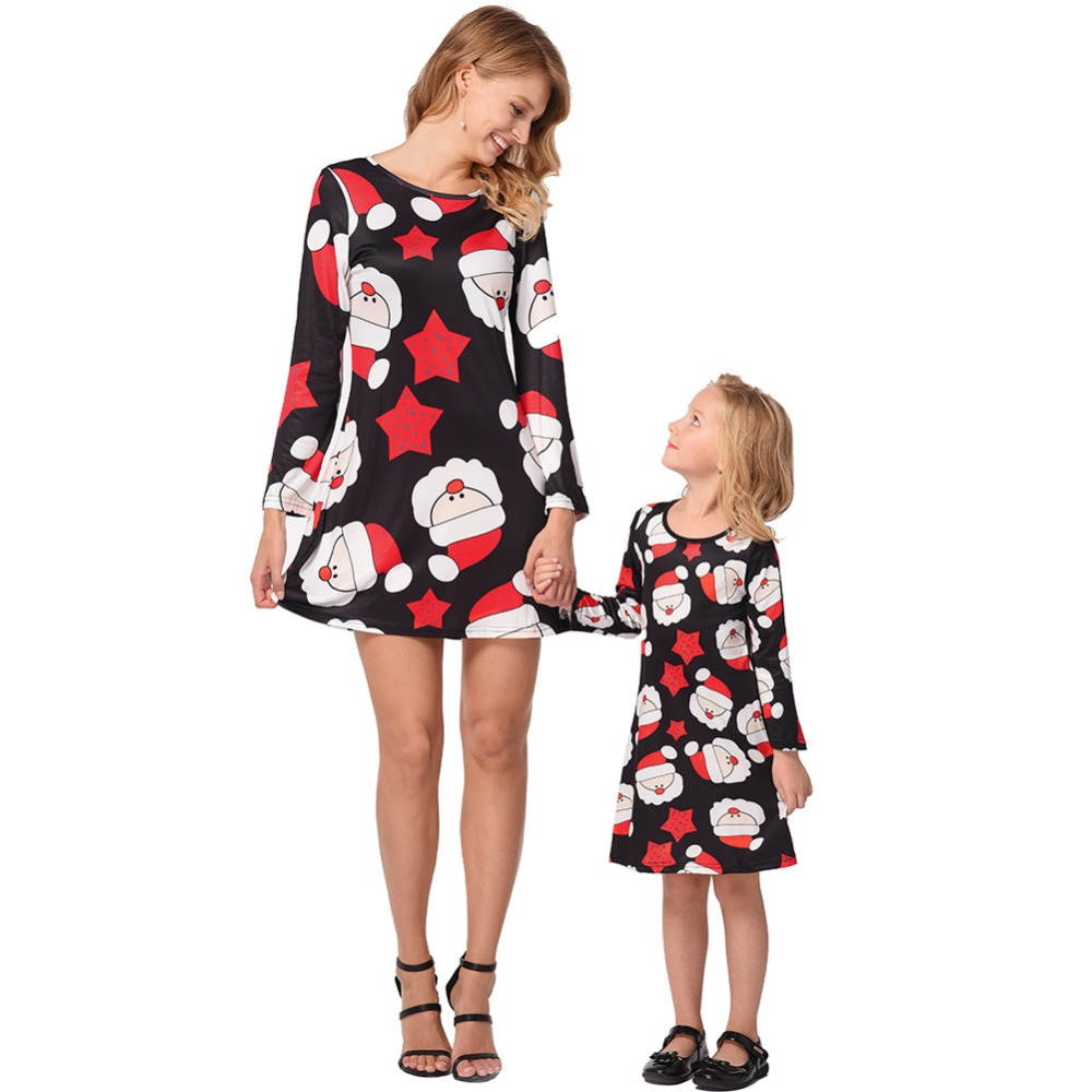 Mother Daughter dresses 2018 Christmas Family Matching Outfits Mother & Princess baby girl dress Family look clothes 2018 mom and daughter dress matching mother daughter clothes dresses girl princess party dress women robe family look clothing