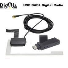 DAB Auto Radio Ricevente del Sintonizzatore del USB bastone DAB box per la Universal Android Auto DVD DAB + antenna dongle usb per android auto lettore dvd