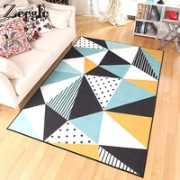 Zeegle Modern Nordic Rugs And Carpets Living Room Absorbent Bedroom Carpet Bedside Mats Rectangular Floor Mats Coffee Table Rug