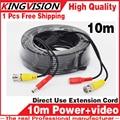 10 М ПРОВОДА 3.2FT Видео Кабели Питания Камеры Безопасности Провода для CCTV DVR Главная Системы Видеонаблюдения с BNC DC Разъемы расширение