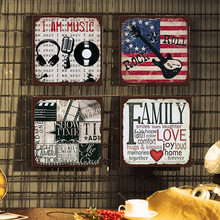 I AM Music Metal Sign Bar Wall Decoration Tin Sign Vintage Metal Poster Home Decor Painting Plaques Art Poster 30*30cm sign of street i