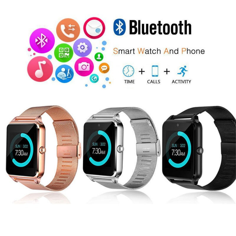 Z60 Bluetooth Smart Watch Men Phone Call 2G GSM SIM TF Card Camera Touch clock reloj inteligente Smartwatch Android Watch IOS цены
