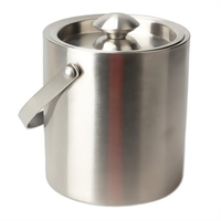 Wine Accessories Double wall Thick Stainless Steel Ice Bucket Insulated Ice Container Cube Wine Buckets Kitchen Gadget Tools