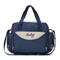 5pcs/Set Baby Diaper Bag Women Travel Bag Stroller Bag Organizer Large Capacity Maternity Nappy Bag Female Travel Handbags Totes