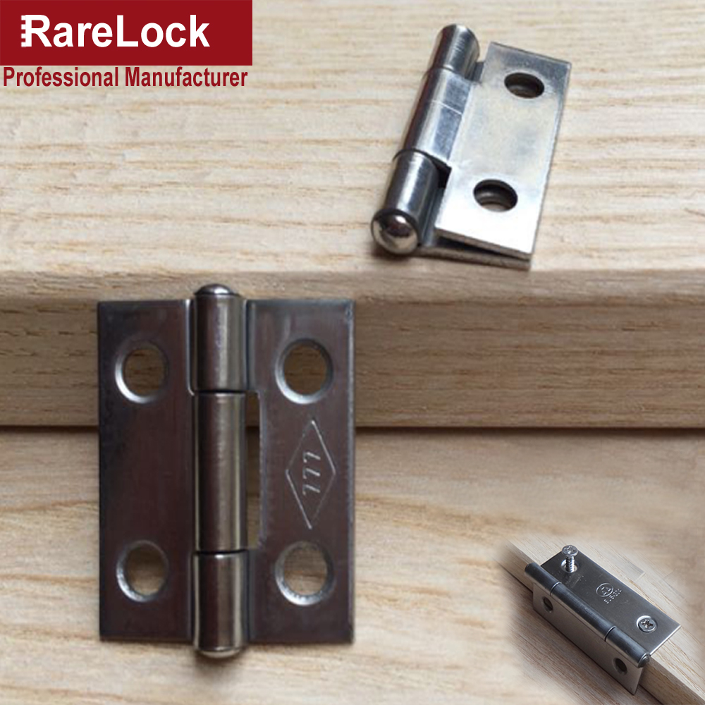 Rarelock Christmas Supplier Furniture Hinge 2pcs bag SUS201 Stainless for Cabinet Box Furniture Hardware Home DIY h in Locks from Home Improvement