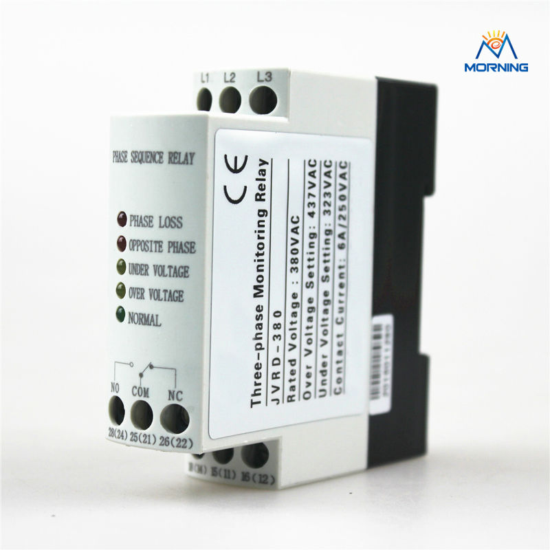 JVRD380 three-phase sequence voltage protection device three phase voltage monitoring device gkr 02 three phase sequence protection relay