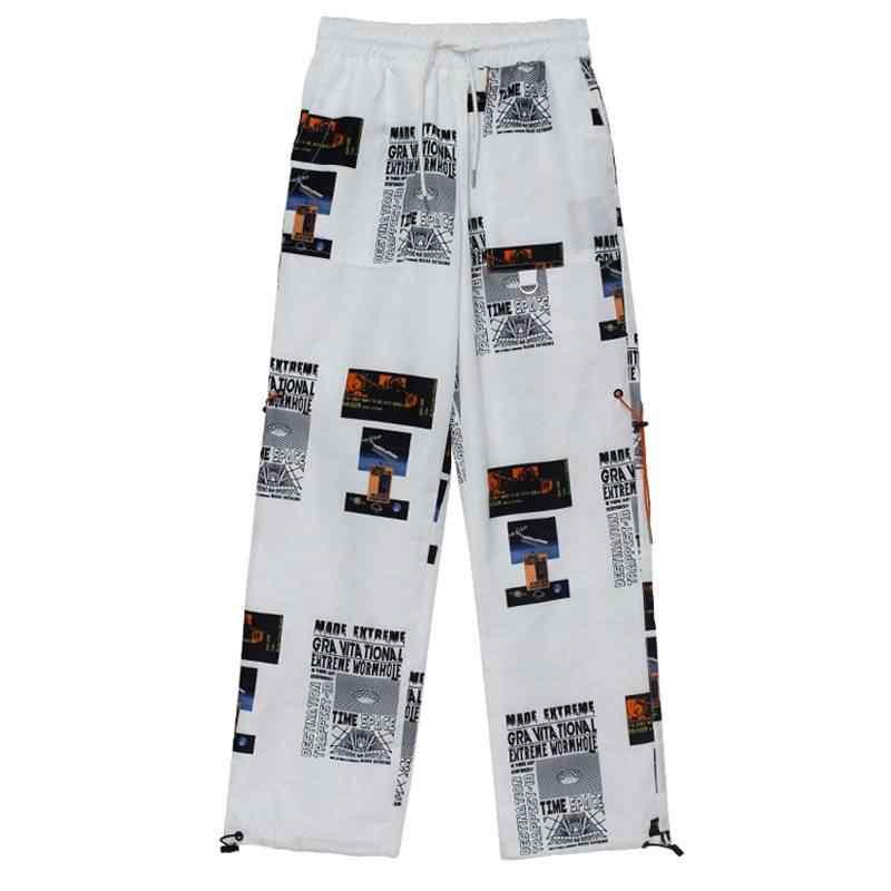 Moda feminina hip hop cintura alta harem calças femininas legal imprimir calças streetwear outono das mulheres jogger calças de carga meninas