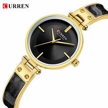 CURREN Womens Watches Fashion Black Golden Ultra-Thin Analog Quartz Wrist Watch Bracelet Reloj Mujer Clock Relogio Feminino Gift цены