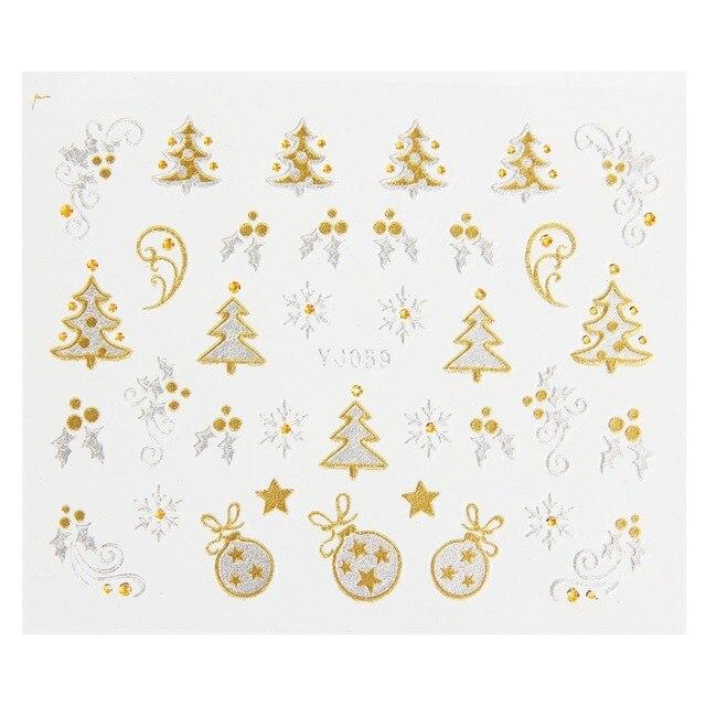 Makartt 120 Sheets Xmas Stickers 3d Gold Silver Metallic Snowflake