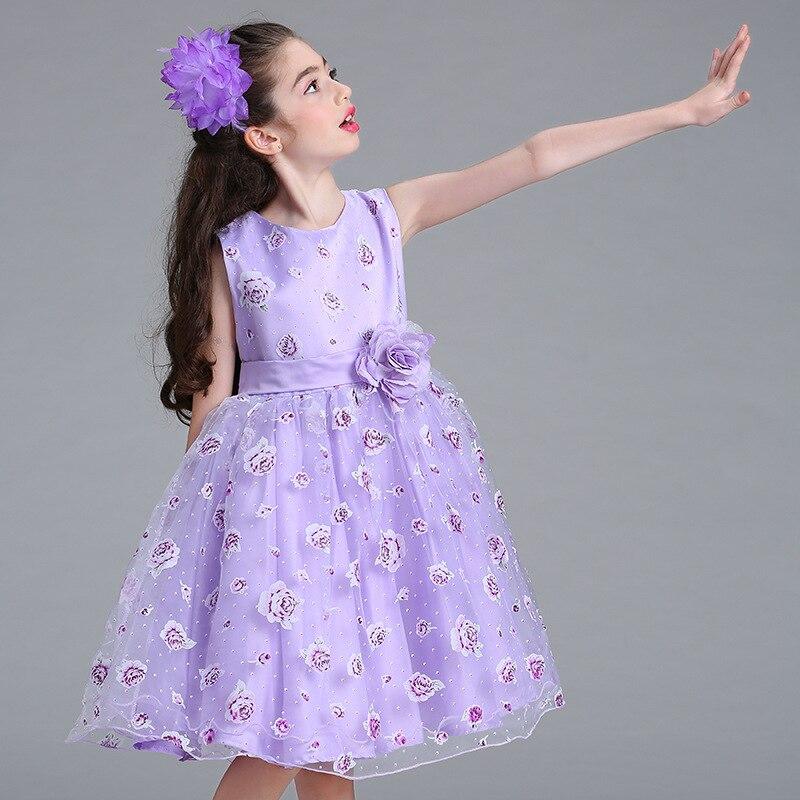 vestido vestidos 67fgyb niña Pequeño para Nwxp0ok8 Wopkxn08 noche flores WE92eHYID