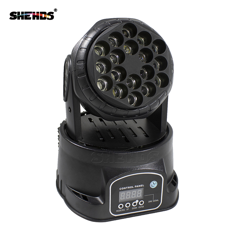 Fast Shipping LED Wash Moving Head 18x3W RGB Stage Lighting For Event,Disco Party Night club SHEHDS DMX512 Stage Lighting fast shipping professional stage lighting led mini 18x3w wash moving head light for event disco party nightclub
