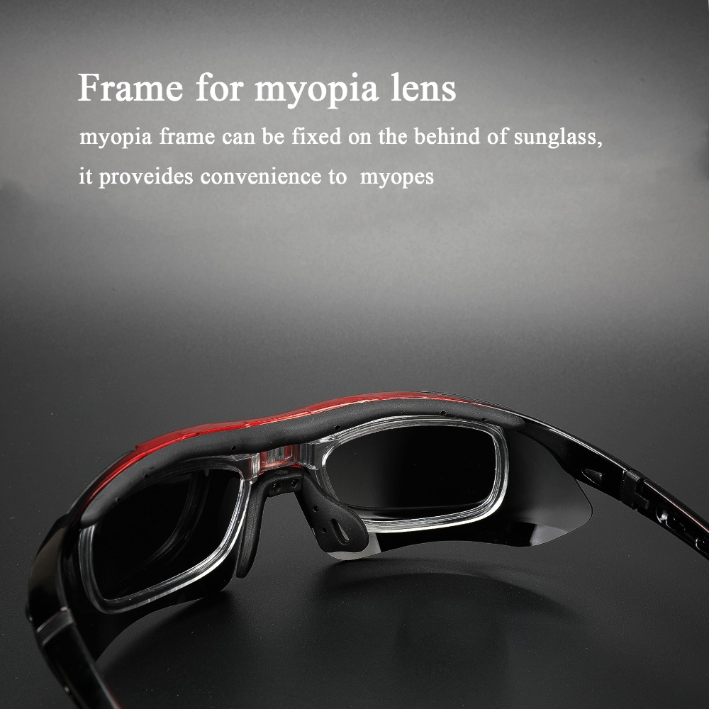 COMAXSUN Professional Polarized Cycling Glasses Bike Goggles Outdoor Sports Bicycle Sunglasses UV 400 With 5 Lens TR90 2 Style 4