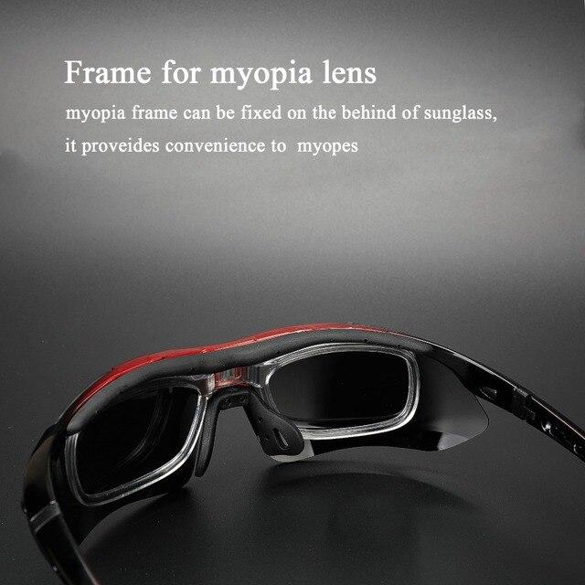Comaxsun polarizado profissional óculos de ciclismo óculos de bicicleta esportes ao ar livre óculos de sol uv 400 com 5 lente tr90 2 estilo 4