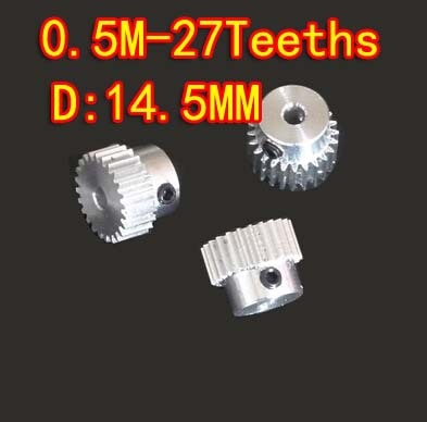 0 5M 27T Aluminum Alloy Precision Spur Gear Hole D 3mm in Gears from Home Improvement