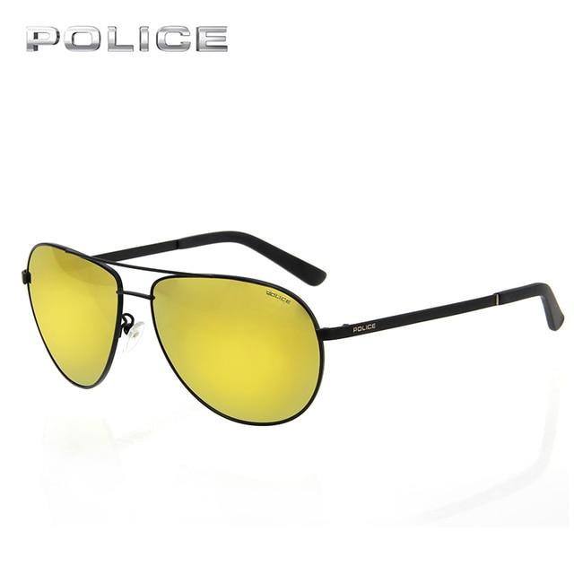 59aef8c0335 POLICE Aviator Metal Frame Sunglasses Women Men Brand Designer Vintage  Luxury Pilot Driver Sport Clear Sunglasses UV400 SPL123K