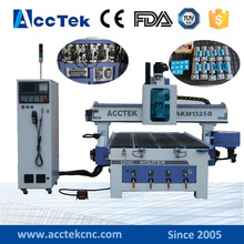 ATC CNC professional and efficient woodworking engraving machine with auto tool changing spindle