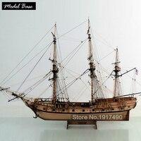Деревянный корабль комплекты моделей поезд хобби модель корабль Сборка образовательные модели суден дерево 3d лазерная резка 1/48 американск