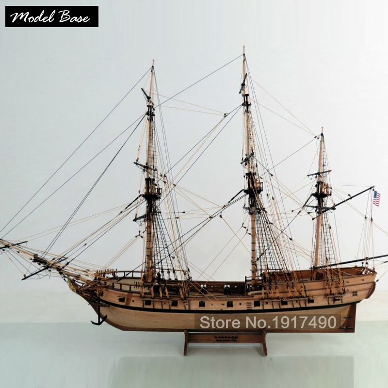 Wooden Ship Models Kits Train Hobby Model-Ship-Assembly Educational Model Boats Wood 3d Laser Cut 1/48 American ship Rattlesnake ingermanland 1715 model ship wood