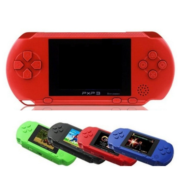 3 Inch 16 Bit PXP3 Slim Station Video Games Player Handheld Game +2pcs Game Card Console built-in 150+ Classic Games New 2016 image
