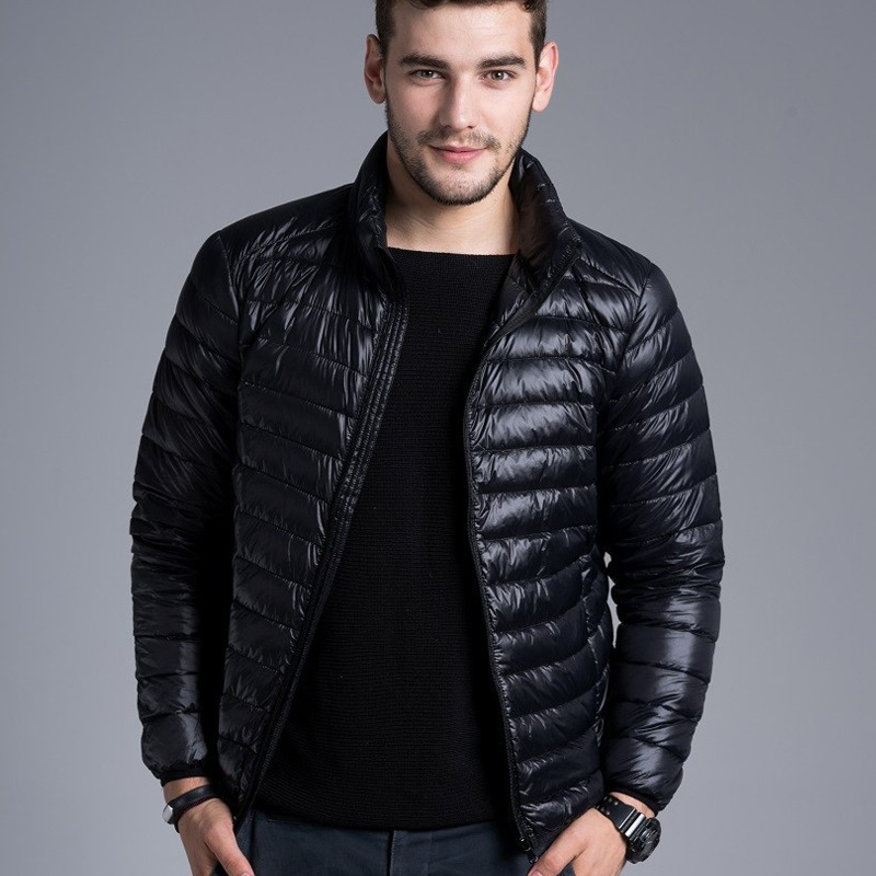Online Shop Men Casual Warm Jackets solid thin breathable Winter ...