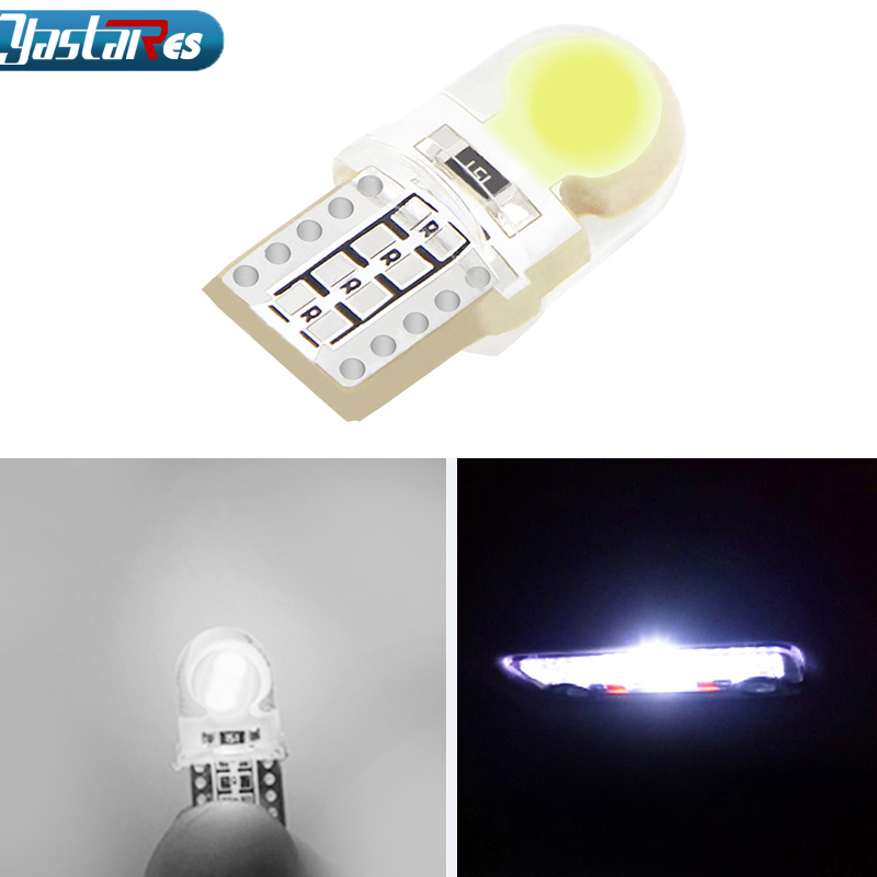 1x High Power T10 W5W LED COB W5W T10 COB Canbus Error Led car Motorcycle light source stop turn signal brake Parking Bulb Lamp