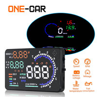 GEYIREN A8 5.5 Car HUD Head Up Display Windscreen Projector Vehicle Fuel Consumption Overspeed Alarm DC9 16V For Safe Driving