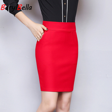 Simple Spring Summer Women High Waist Tight Office Skirt Pocket Casual Package Hip Short Skirts Lady Mini Sexy Fashion