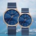 Новинка, часы для влюбленных, NAVIFORCE, кварцевые, простые часы для мужчин и женщин, водонепроницаемые, полностью стальные, пара наручных часов, ...