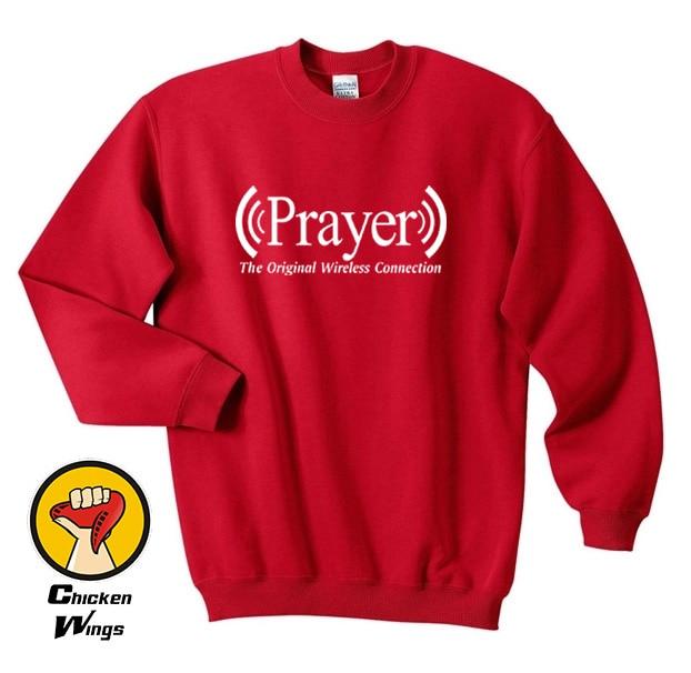 Prayer Original Wireless Connection Funy Prayer Shirt Religious God Cute Top Crewneck Sweatshirt Unisex More Colors XS 2XL in Hoodies amp Sweatshirts from Women 39 s Clothing