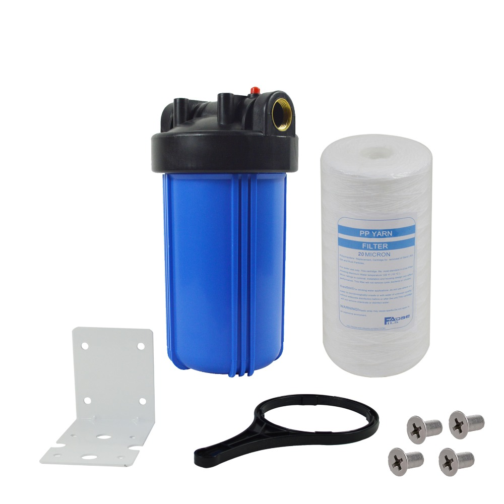 1-Stage Whole House Water Filtration system with 10-Inch String Wound Filter 20Micron,Mounting bracket ,Screw&Wrench ,1