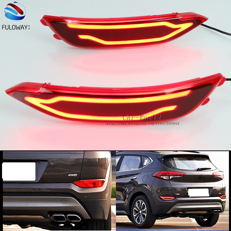For Hyundai Tucson 15-16 LED TailLight Assembly DRL Daytime Running Lights Multi-functions Rear Fog Lamp Auto Bumper Brake Light free shipping 1pc home decoration quality 20 55 8mm glass hole saw tile diamond drill hole saw for wet drilling glass tile etc