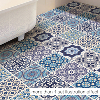 3D DIY Chinese Classic Blue And White Porcelain Decor Floor Stickers Removable Floor Sticker Art Decal