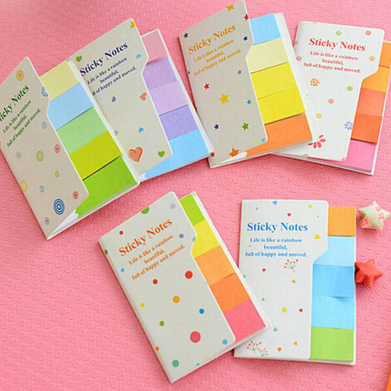 10 sets/Lot DIY Colorful Cute Memo Pad Sticky Note Paper Sticker Pads Post It Note Creative School Stationery Free Shipping