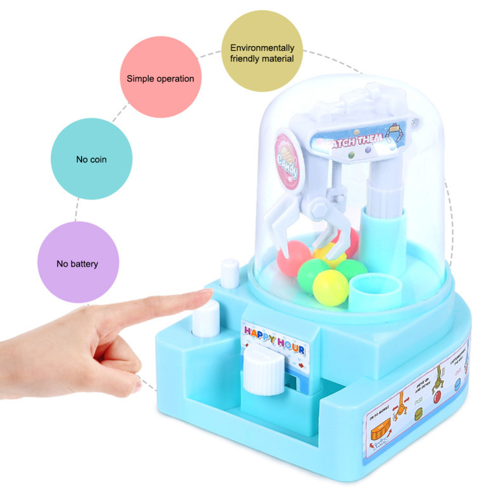 Kids Toys Mini Catching Balls Machine Clip Candy Machine Children Early Education Toys Boys Girls Desktop Sport Game Toy Gift image