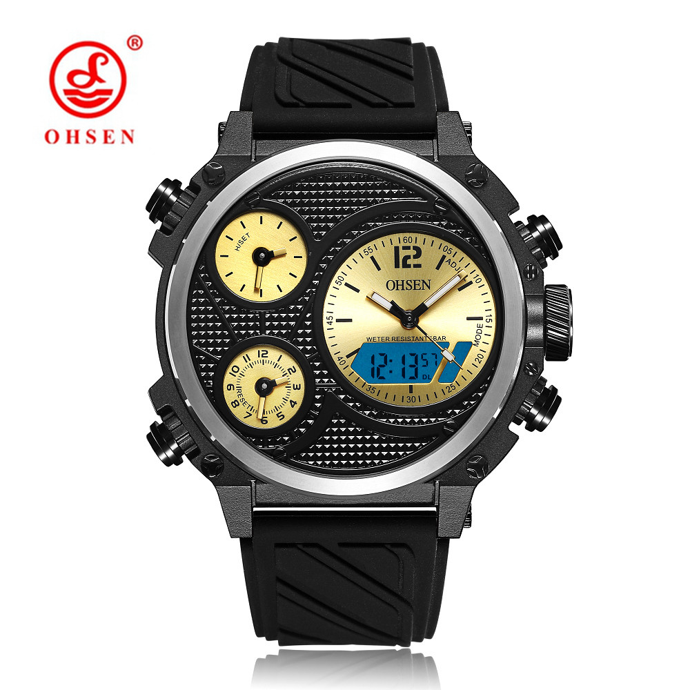 Reloj Hombre Militar Army Luxury Top Brand Mens Watches Quartz Big Size Small Dial Multiple Time Zone Watch OHSEN Brand Clock oulm mesh mens watches top brand luxury multiple time zone men s watch male quartz outdoor sports wristwatch reloj hombre
