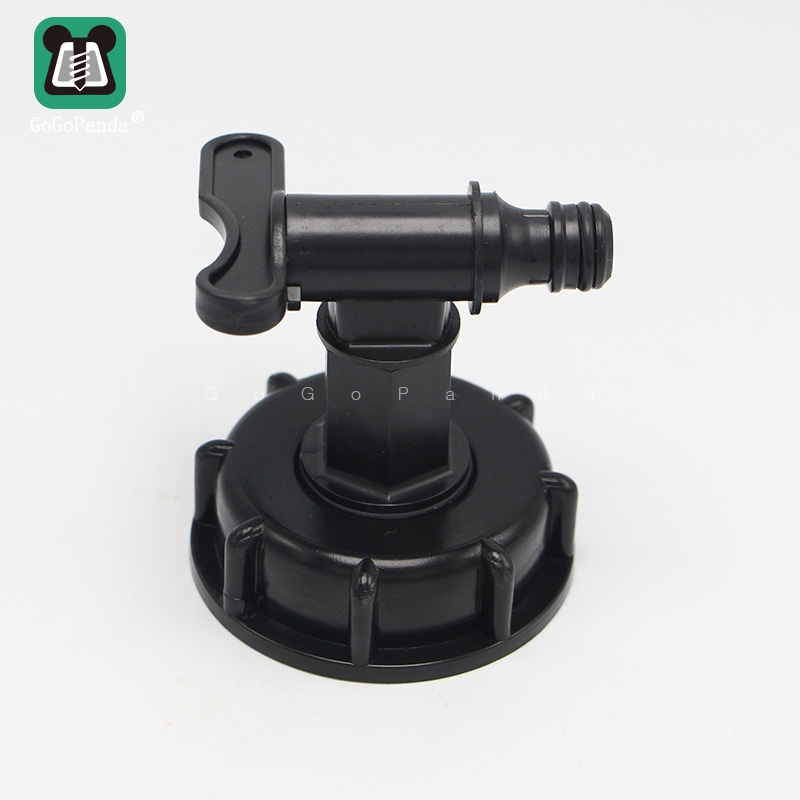 "Free Shipping 1000L IBC Tank Valves 60mm To 1/2"" (15mm) Water Connector Tank Garden Hose Adapter Fittings Switch"